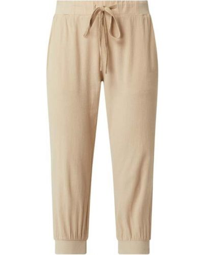 Beżowe spodnie dresowe bawełniane Kaffe