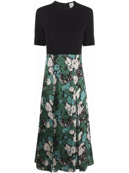 Платье мини в цветочный принт - черное Paul Smith