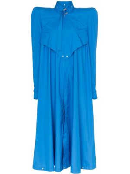 Расклешенное платье миди винтажное на кнопках Montana