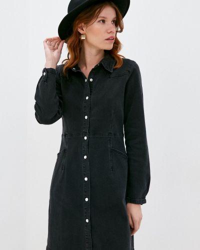 Черное джинсовое платье Ichi