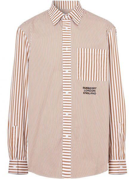 Koszula z długim rękawem klasyczna z kieszeniami Burberry
