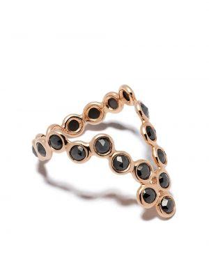 Czarny złoty pierścionek z diamentem Lito