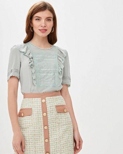 Блузка с коротким рукавом зеленый Lusio