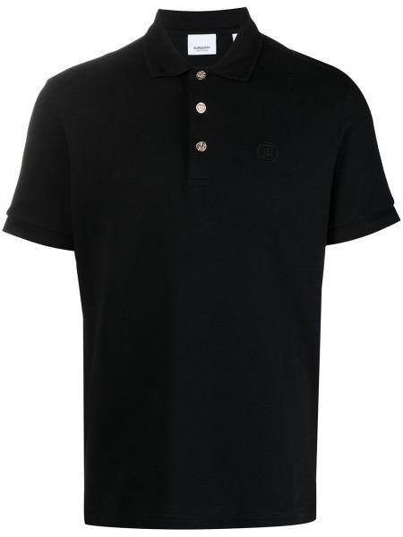 Bawełna czarny koszula krótkie rękawy Burberry