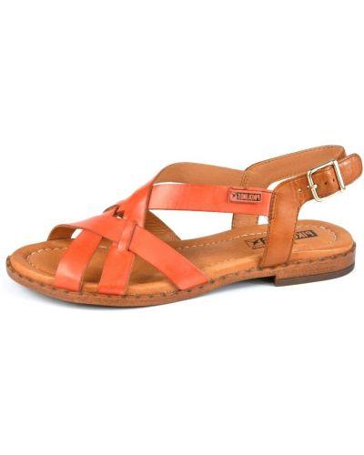Кожаные сандалии - красные Pikolinos