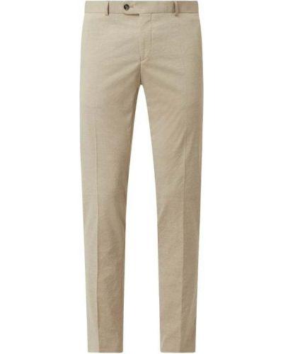 Beżowe spodnie z wiskozy Carl Gross