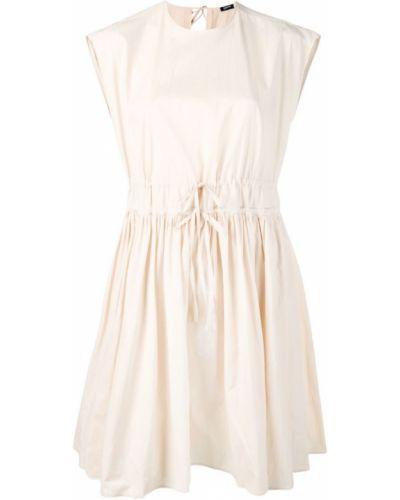 Платье мини с поясом с вырезом Jil Sander Navy