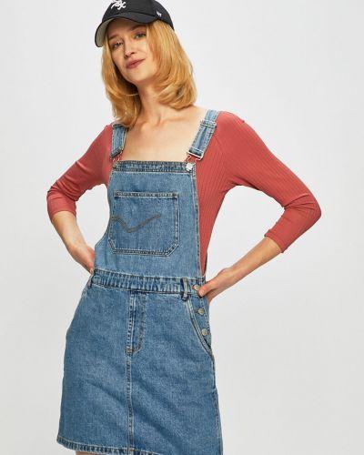 Джинсовое платье мини с карманами Only