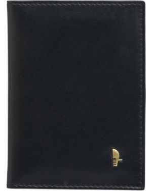 Черный кожаный футляр для очков Puccini