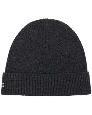 Prążkowany czapka beanie wełniany z haftem Lacoste