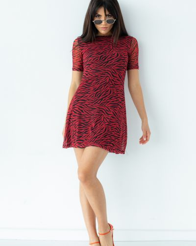Красное платье мини Clew