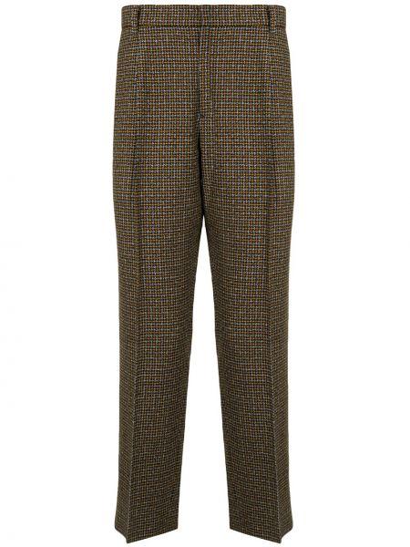 Акриловые коричневые брюки с высокой посадкой Wooyoungmi