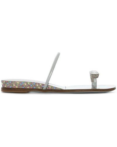 Сандалии на шнуровке на танкетке Casadei