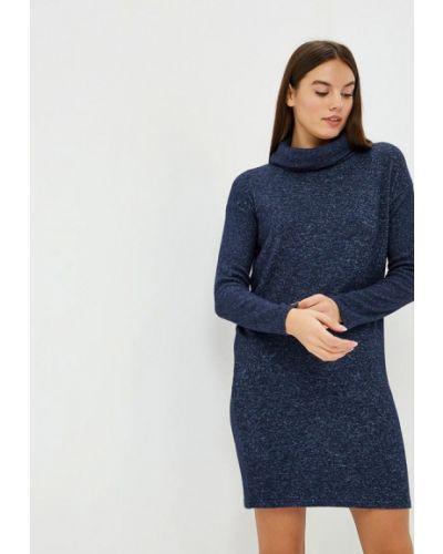 Платье осеннее синее Modis