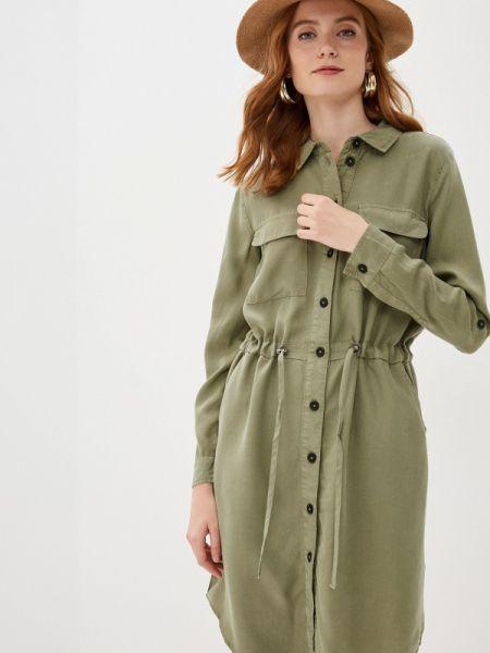 Платье платье-рубашка зеленый B.young