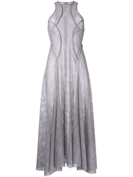 Серое ажурное платье Bianca Spender