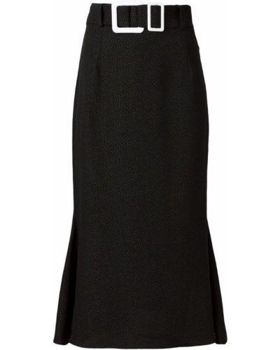 Черная юбка карандаш с поясом с рукавом 3/4 Edeline Lee