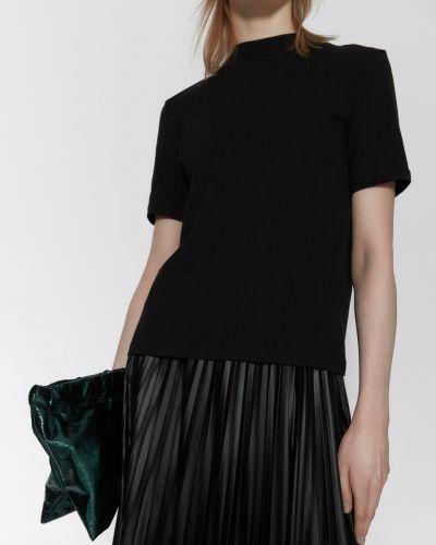 Черная водолазка с короткими рукавами Zara