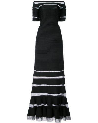 Вечернее платье мини с открытыми плечами Tadashi Shoji