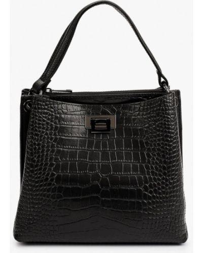 Черная кожаная сумка Wojas