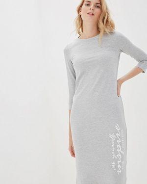 Платье серое прямое Vilatte