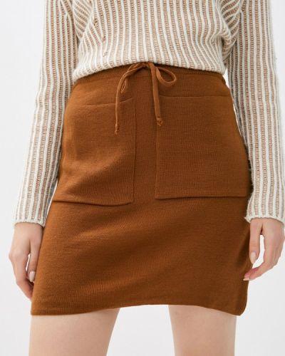 Коричневая прямая юбка карандаш Lc Waikiki