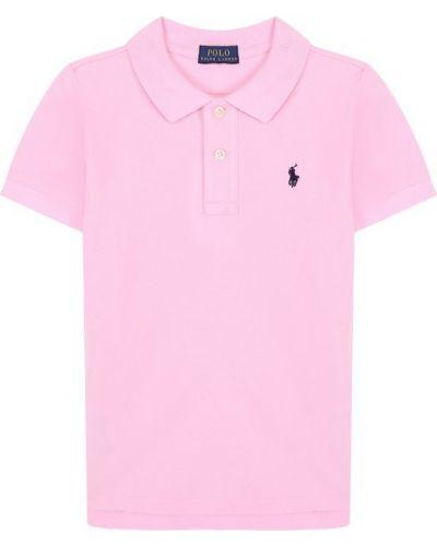 Поло с логотипом на пуговицах Polo Ralph Lauren