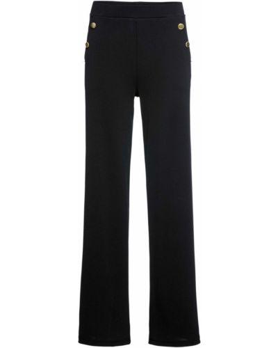 Свободные брюки с карманами черные Bonprix