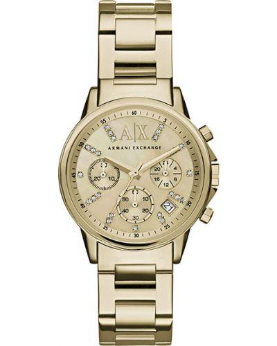 Водонепроницаемые часы кварцевые с камнями Armani Exchange