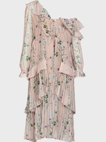 Платье из полиэстера - розовое Self-portrait