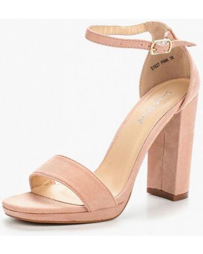 Розовые босоножки замшевые Sweet Shoes