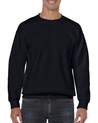 Хлопковый свитшот - черный Gildan