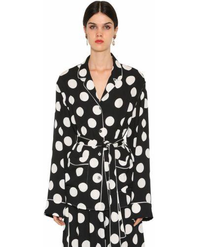 Koszula w grochy - czarna Dolce And Gabbana