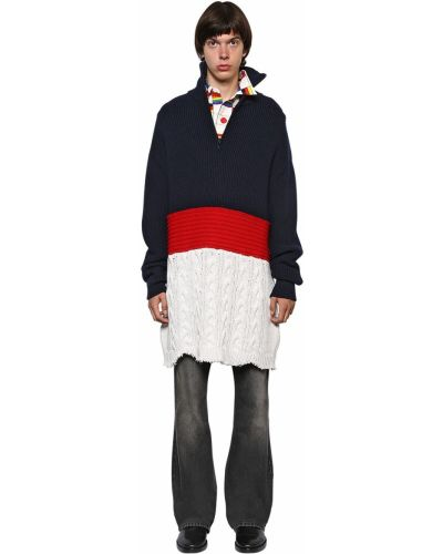 Prążkowany sweter wełniany oversize Balenciaga