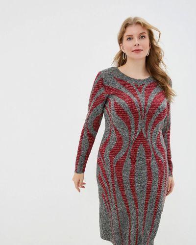 Платье серое платье-свитер Milana Style