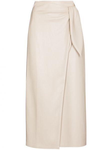 Кожаная юбка миди Nanushka
