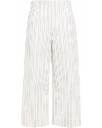 Białe spodnie w paski bawełniane Rebecca Taylor