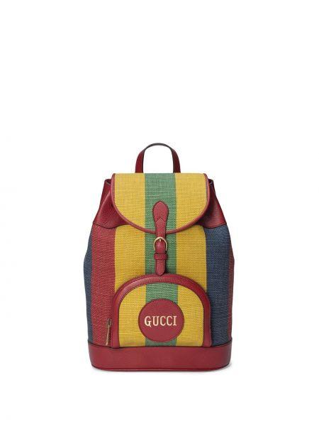 Skórzany plecak na paskach Gucci