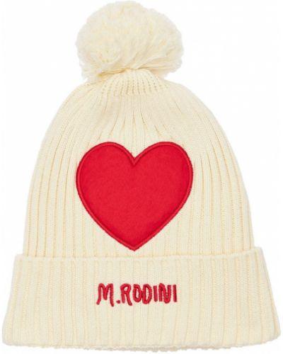 Хлопковая шапка - белая Mini Rodini