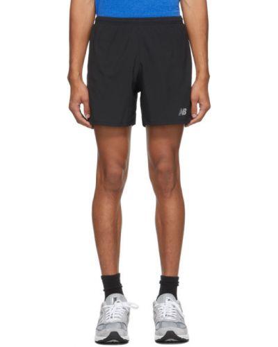 Черные короткие шорты с карманами из поплина New Balance