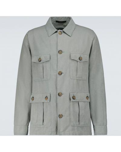 Zielona kurtka bawełniana Frescobol Carioca