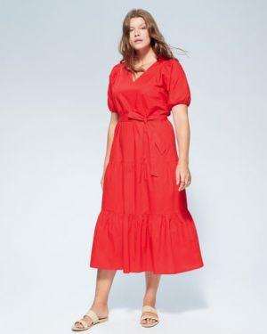 Платье мини миди с V-образным вырезом Mango