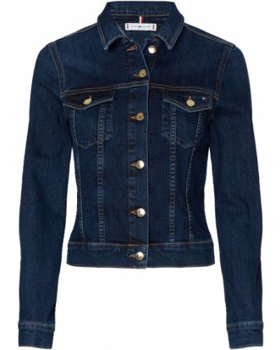 Niebieski kurtka jeansowa na przyciskach Tommy Hilfiger