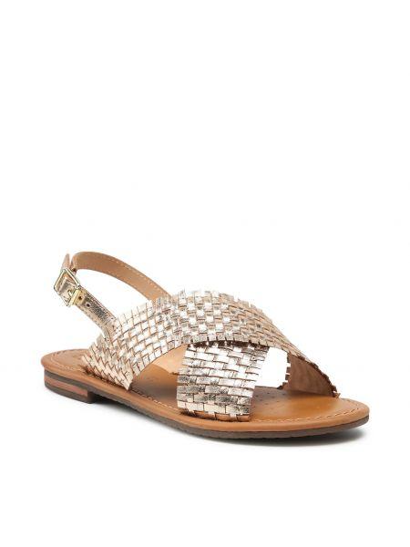 Złote sandały Geox