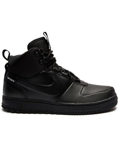 Кожаные кроссовки - черные Nike