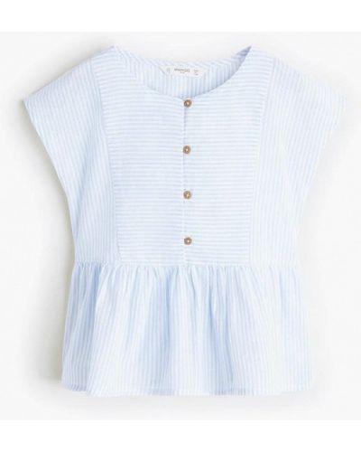 Блуза голубой индийский Mango Kids