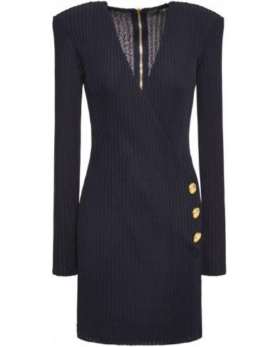 Платье мини - синее Balmain