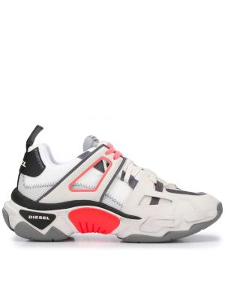 Кожаные кроссовки на каблуке на шнурках Diesel