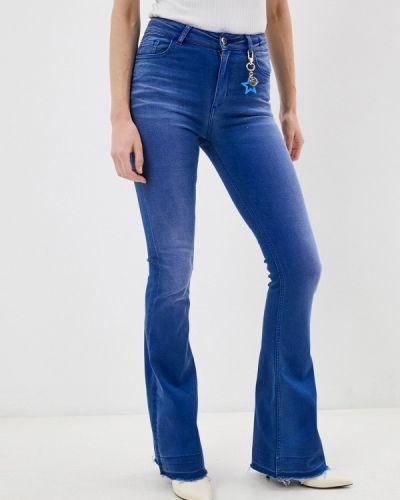 Широкие джинсы - синие Twinset Milano