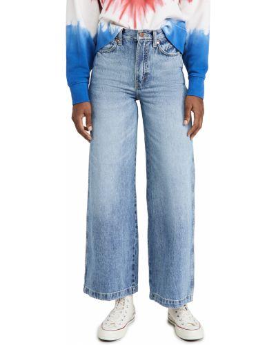 Синие широкие джинсы стрейч свободного кроя Wrangler
